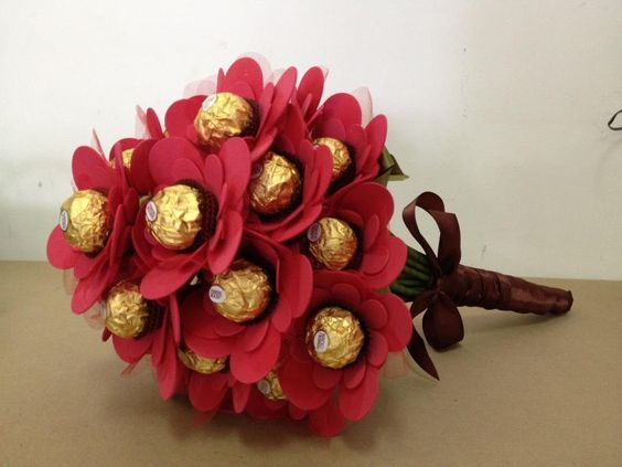 ideias oferecer bombom natal bouquet