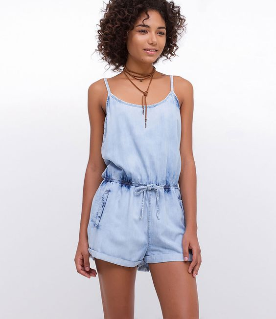 macacao jeans curto look