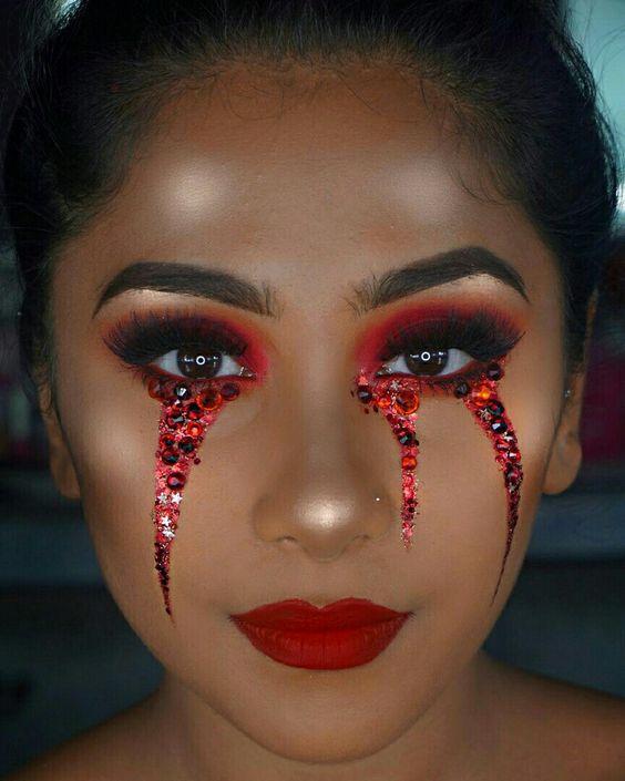 maquiagem carnaval diabinha