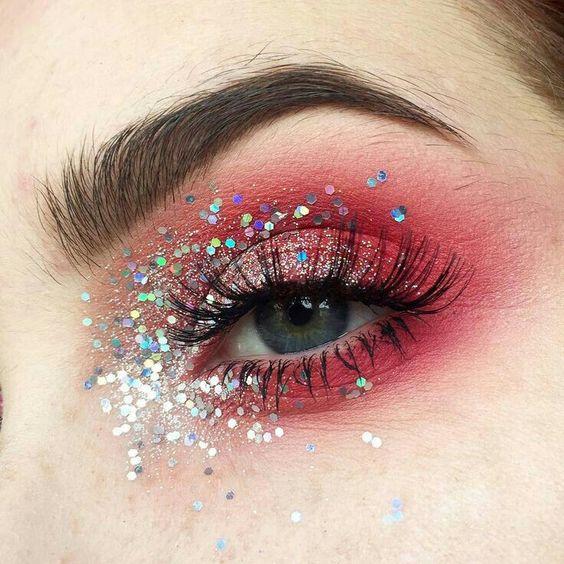maquiagem carnaval olhos