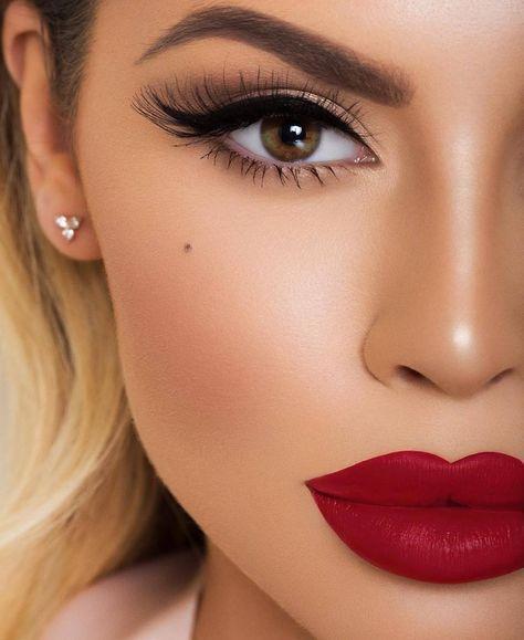 maquiagem noiva labios marcados