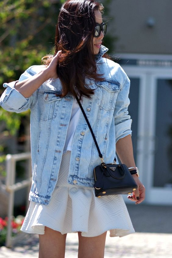 mini bag look jeans