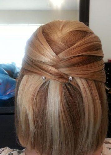 penteado cabelo curto facil preso
