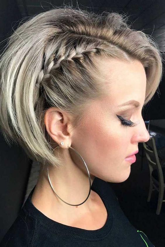 penteado cabelo curto tranca