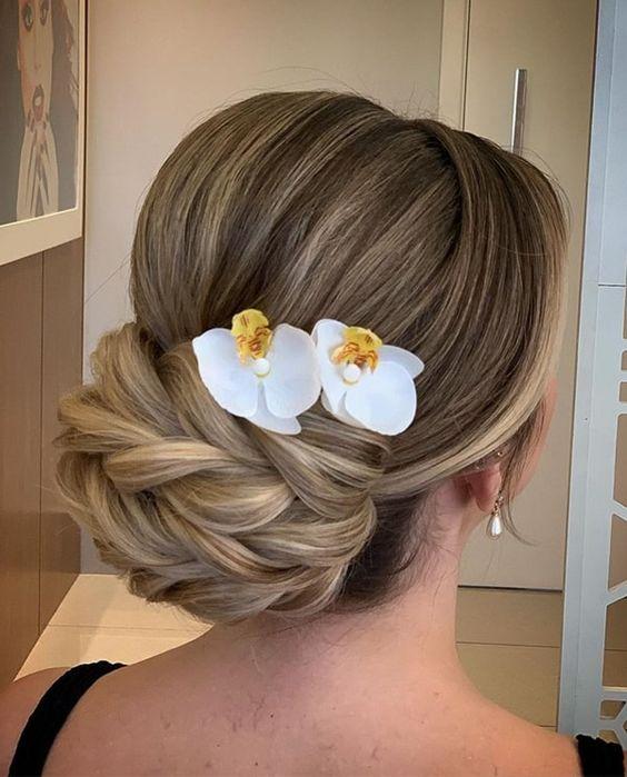 penteado festa acessorios simples