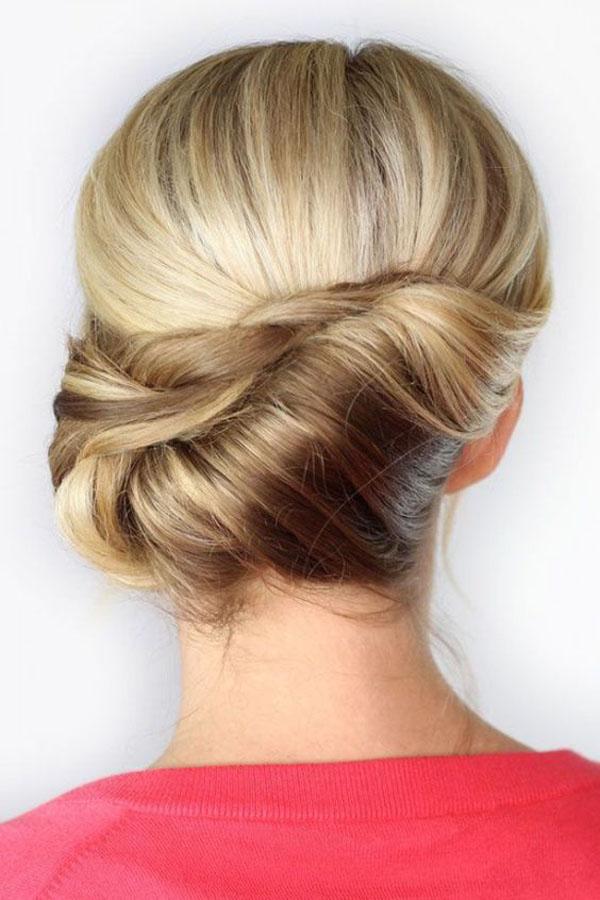 penteado festa preso coque lateral