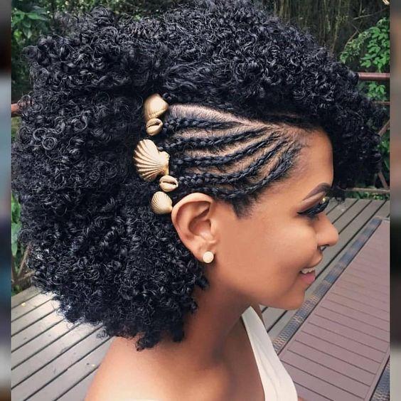 penteados cabelos cacheados curto