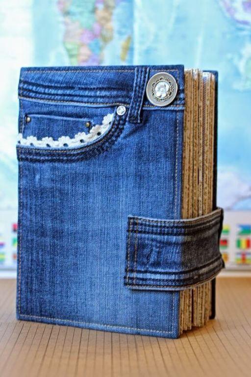 reciclar jeans velhos agenda