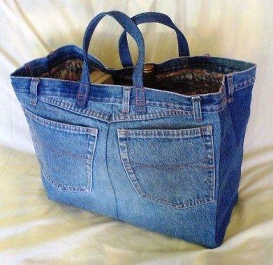 reciclar jeans velhos bolsa