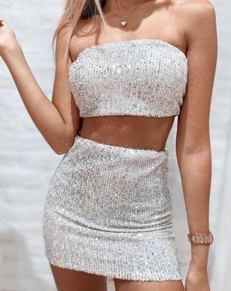 roupas femininas brilho