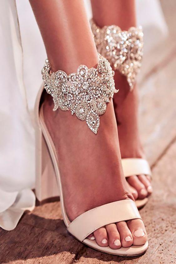sapatos noiva brilhantes