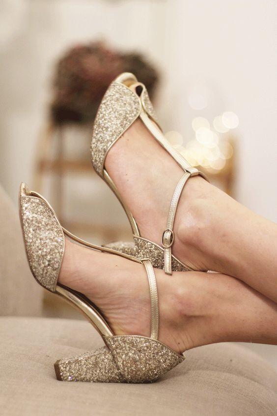 sapatos noiva dourado