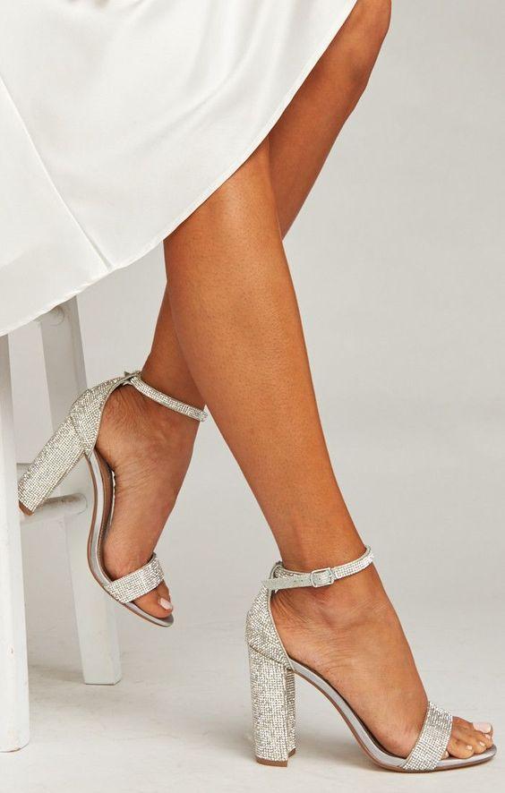 sapatos noiva prateados