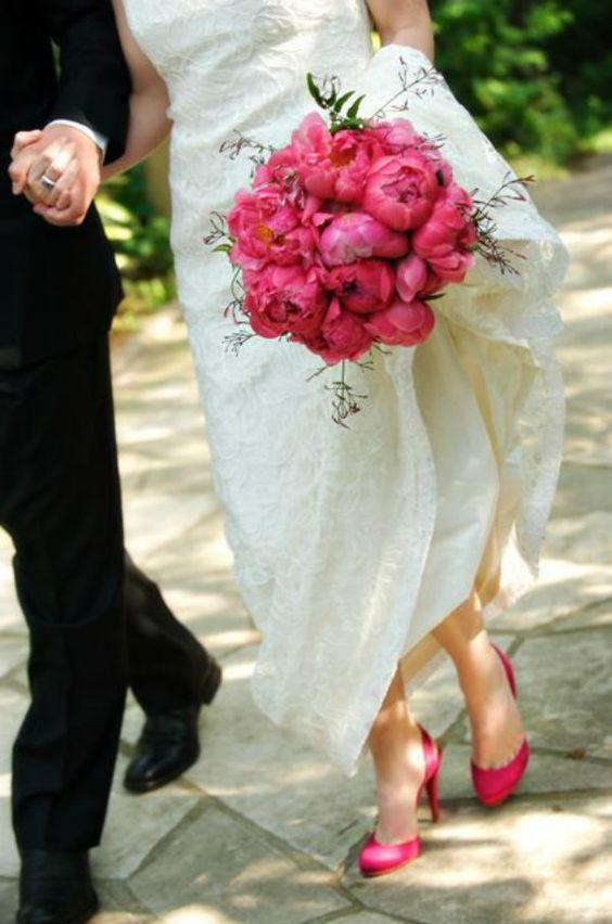 sapatos noiva rosa ideias