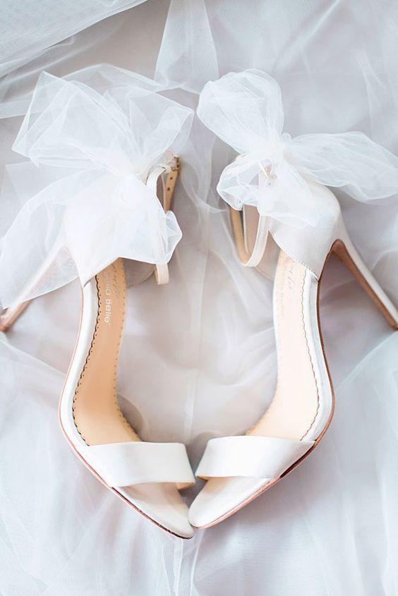 sapatos noiva tule