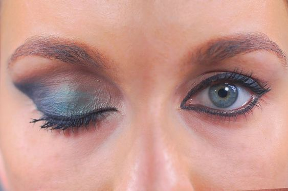 sombra olhos salientes cores