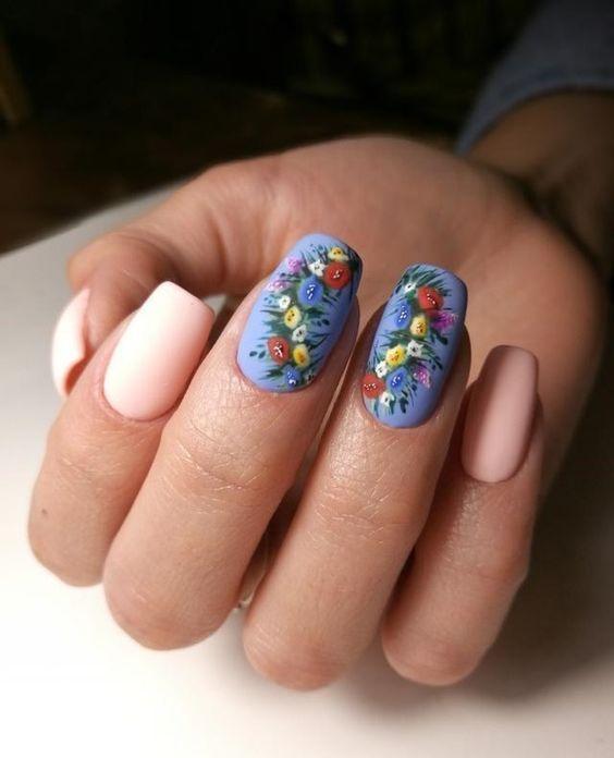 unhas florais criativa