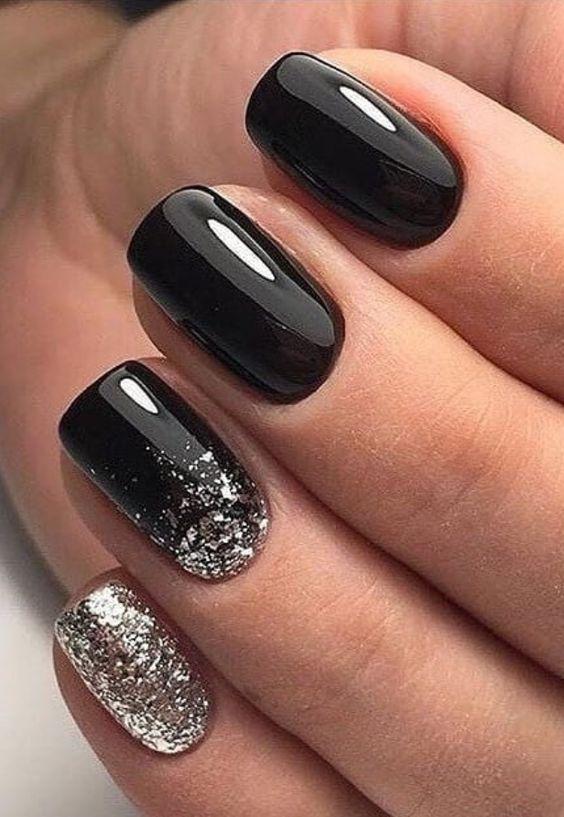 unhas ombre pretas 2