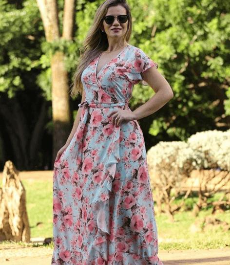 vestido evangelico festa