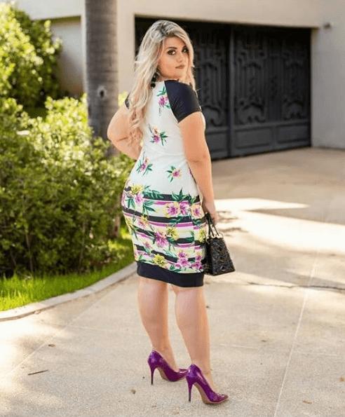 vestido evangelico gordinha