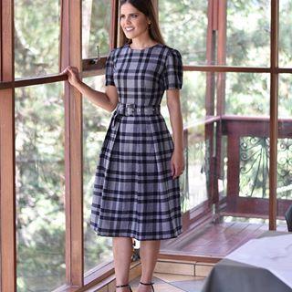 vestido evangelico simples