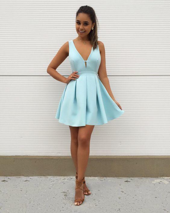 vestido festa curto casamento azul