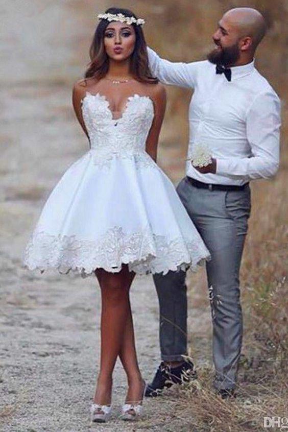 vestido festa curto casamento noiva renda