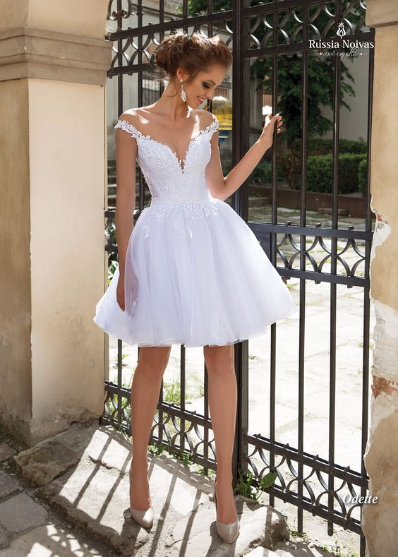 vestido festa curto casamento noiva tule