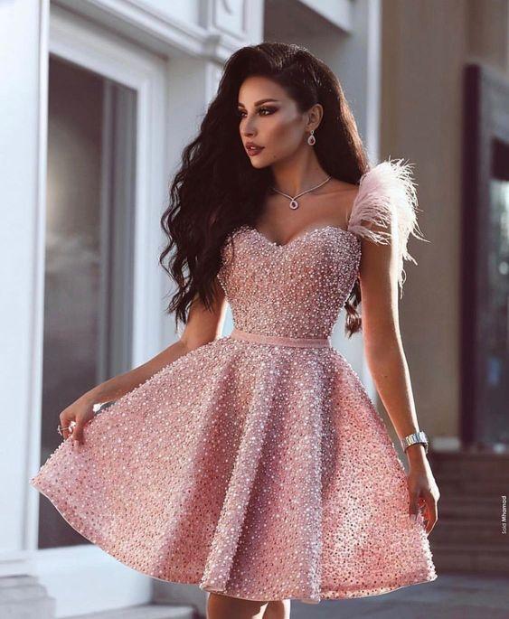 vestido festa curto formatura rosa