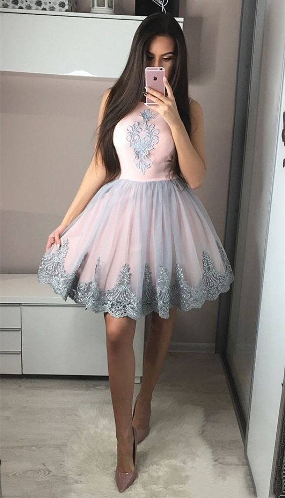 vestido festa curto formatura tule