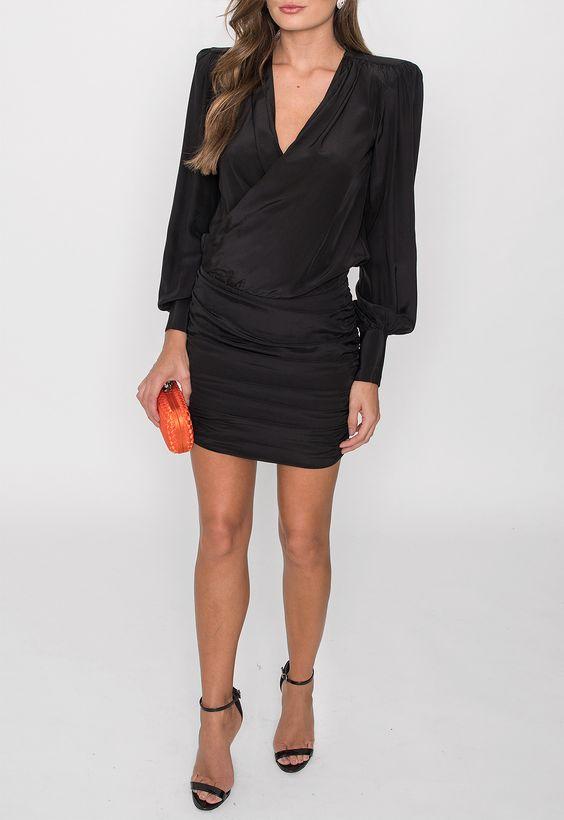 vestido festa curto preto simples