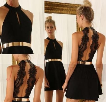 vestido festa curto preto