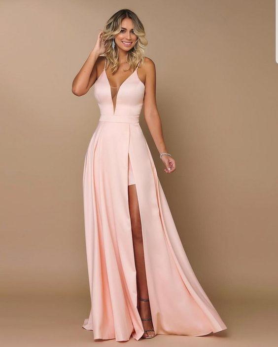 vestido festa simples