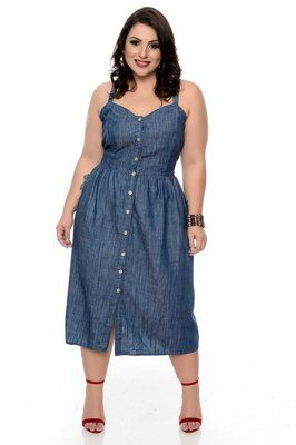 vestido jeans plus size