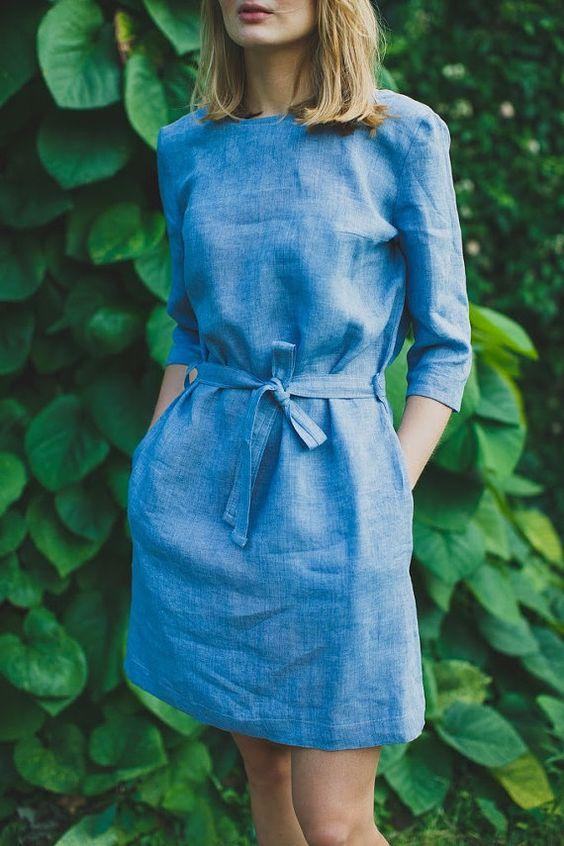 vestido jeans soltinho cinto