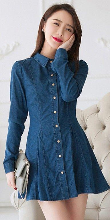 vestido jeans soltinho curto