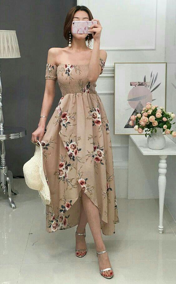 vestidos florido comprido