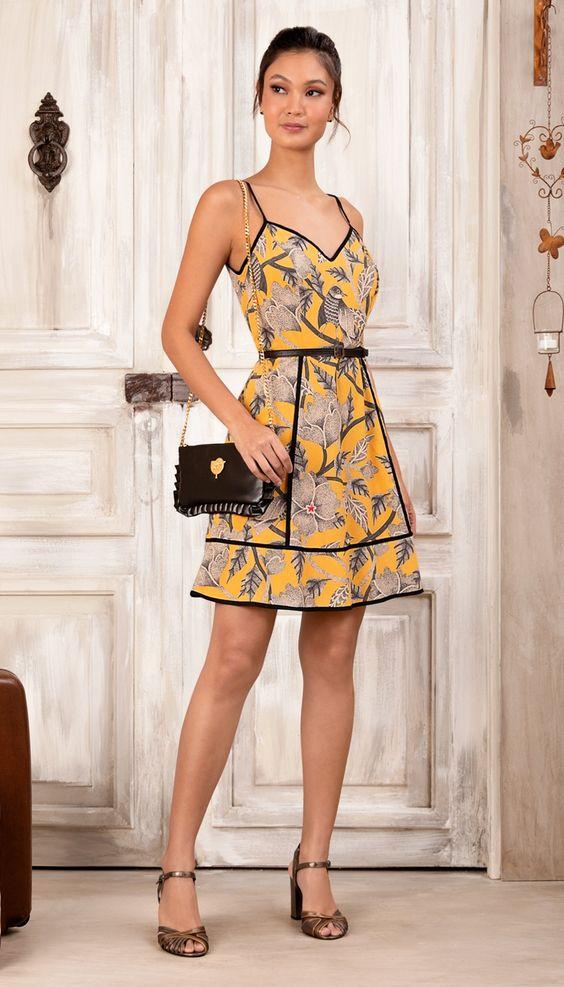 vestidos florido curto formal