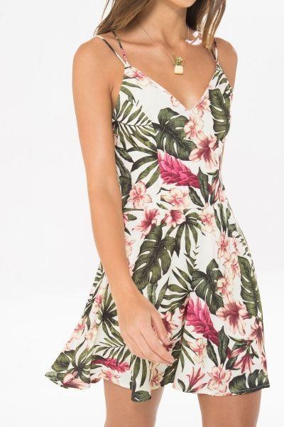 vestidos florido curto soltinho