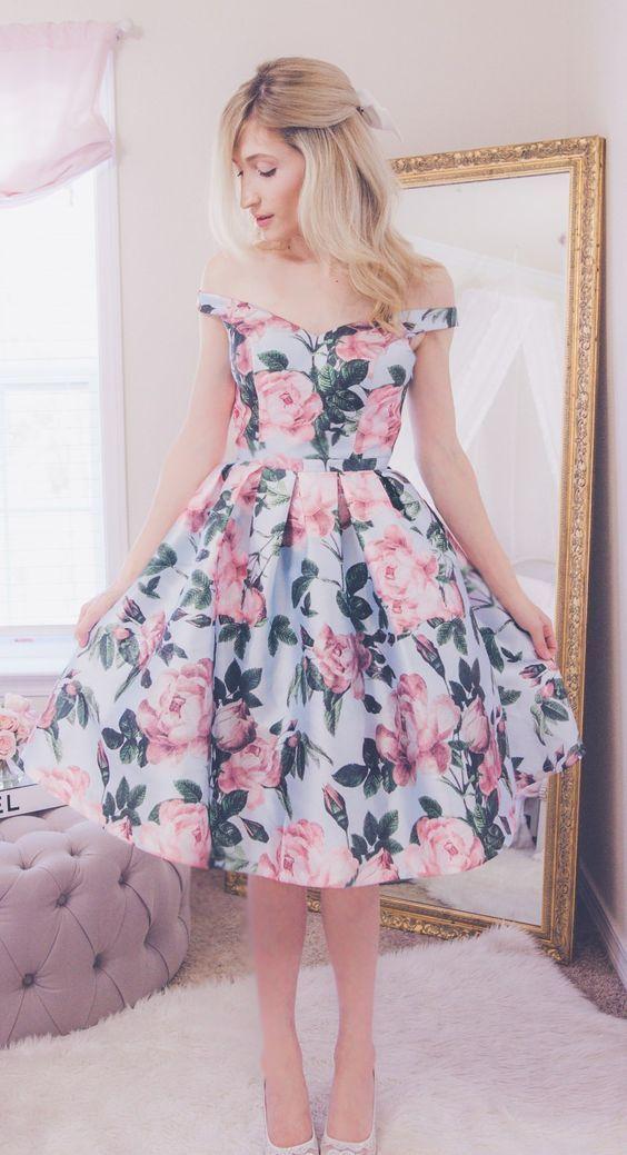 vestidos florido soltinho romantico