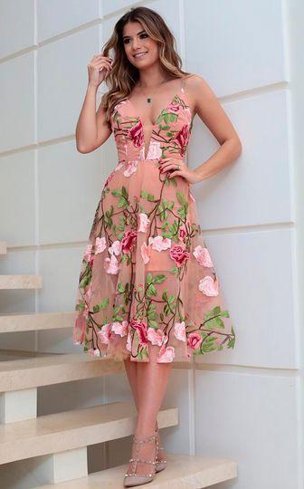 vestidos florido soltinho rosa