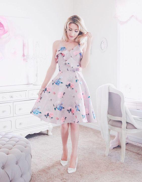 vestidos florido soltinho simples