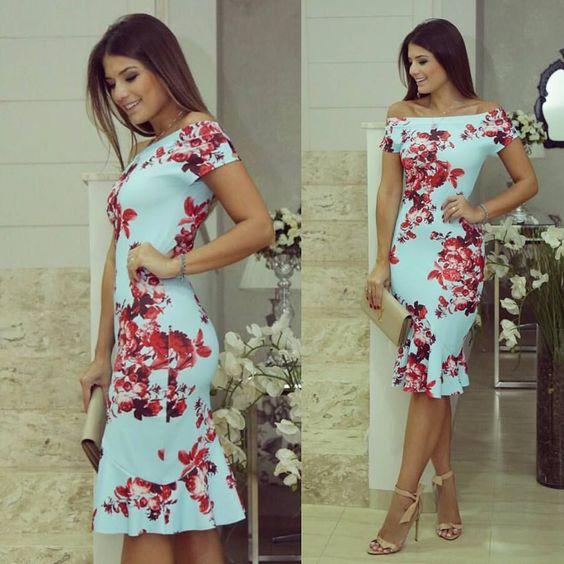 vestidos florido tubinho